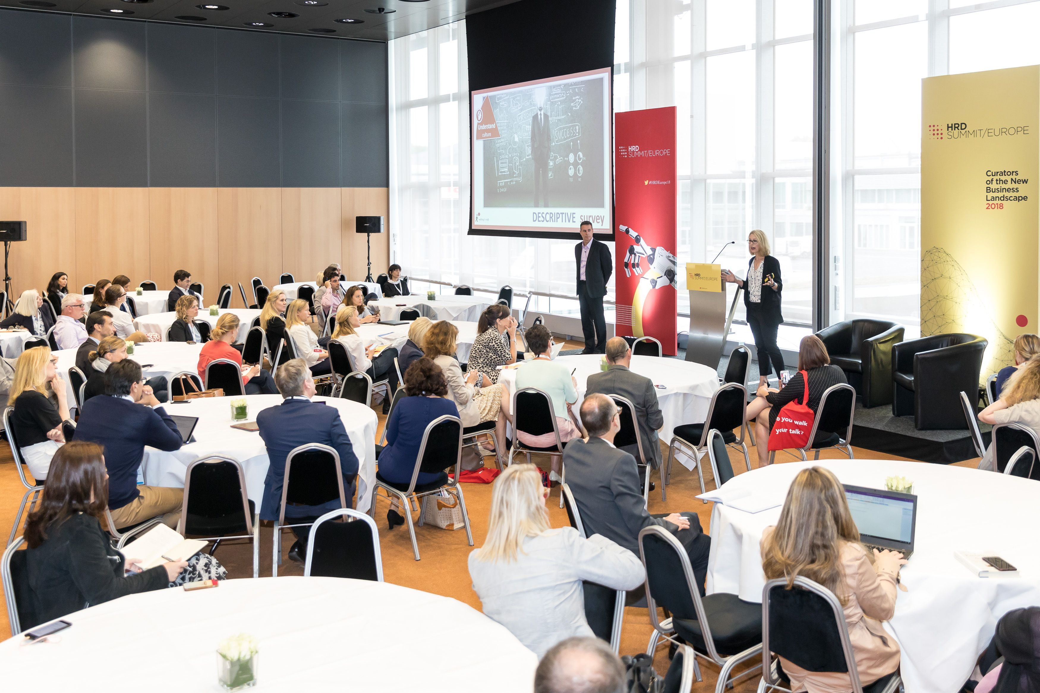HRD-Summit-Europe-2018-Small-140 Walking the Talk Executive Directors Jerome Parisse-Brassens and Amanda Fajak explain how to use culture measurement to drive sustainable change.