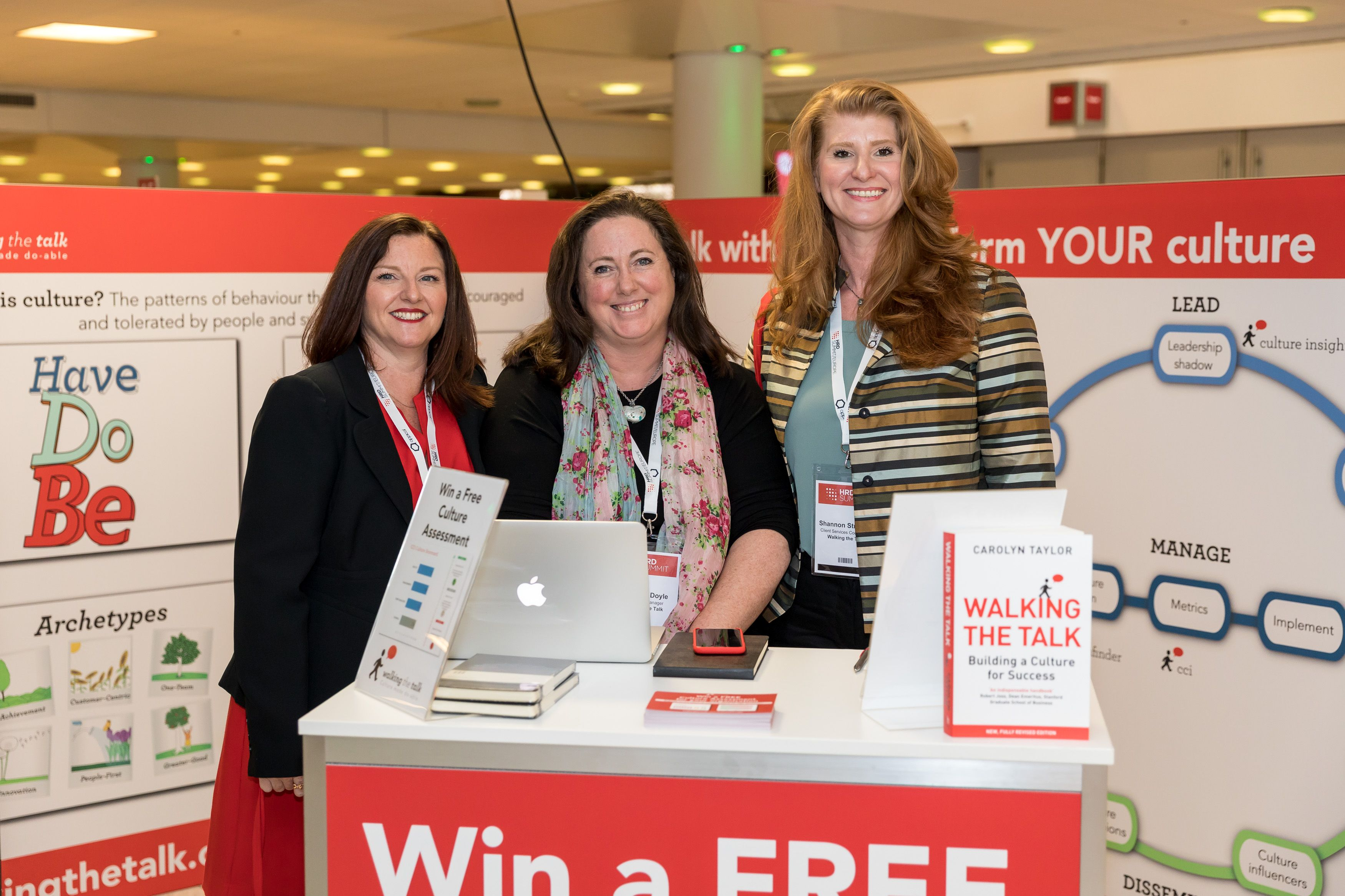 Finance Project Manager Sarah Sheehan, Sales & Business Development Manager Deborah Doyle and Client Services Coordinator Shannon Strasser hosting our stand.