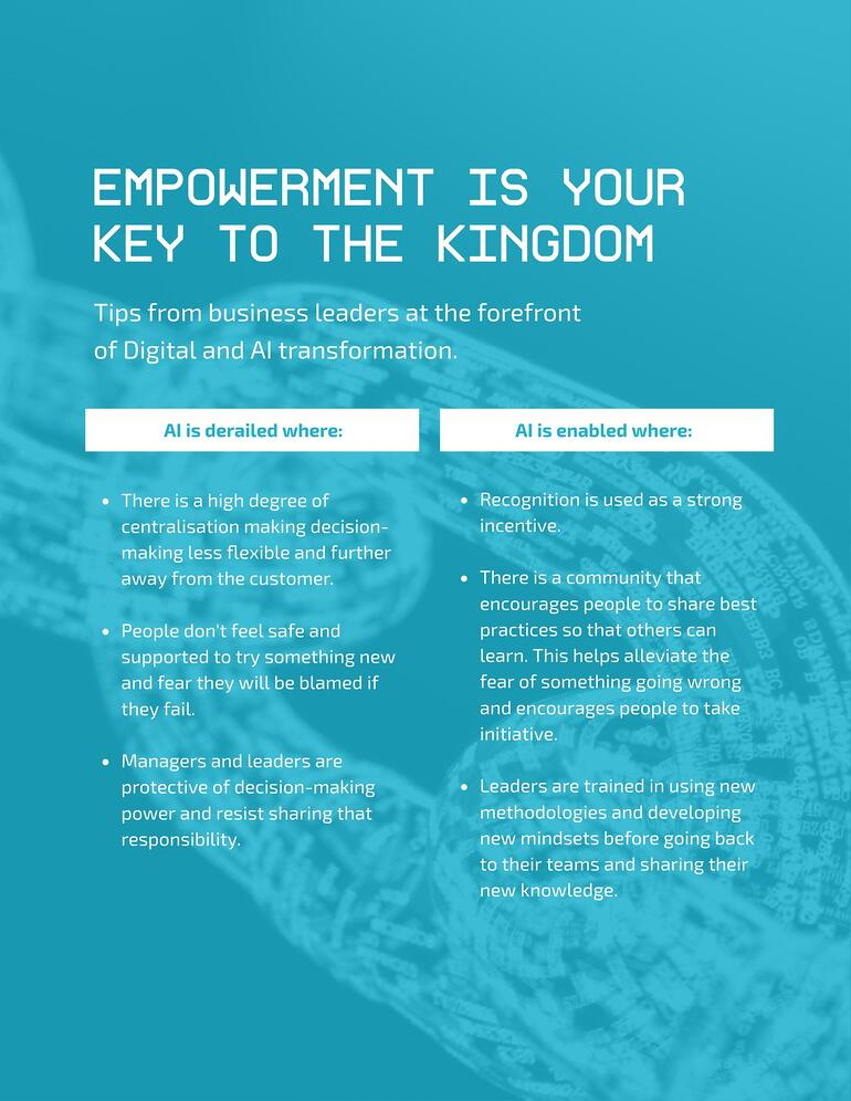 Empowerment is your key to the kingdom