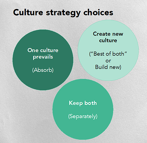 Culture strategy choices