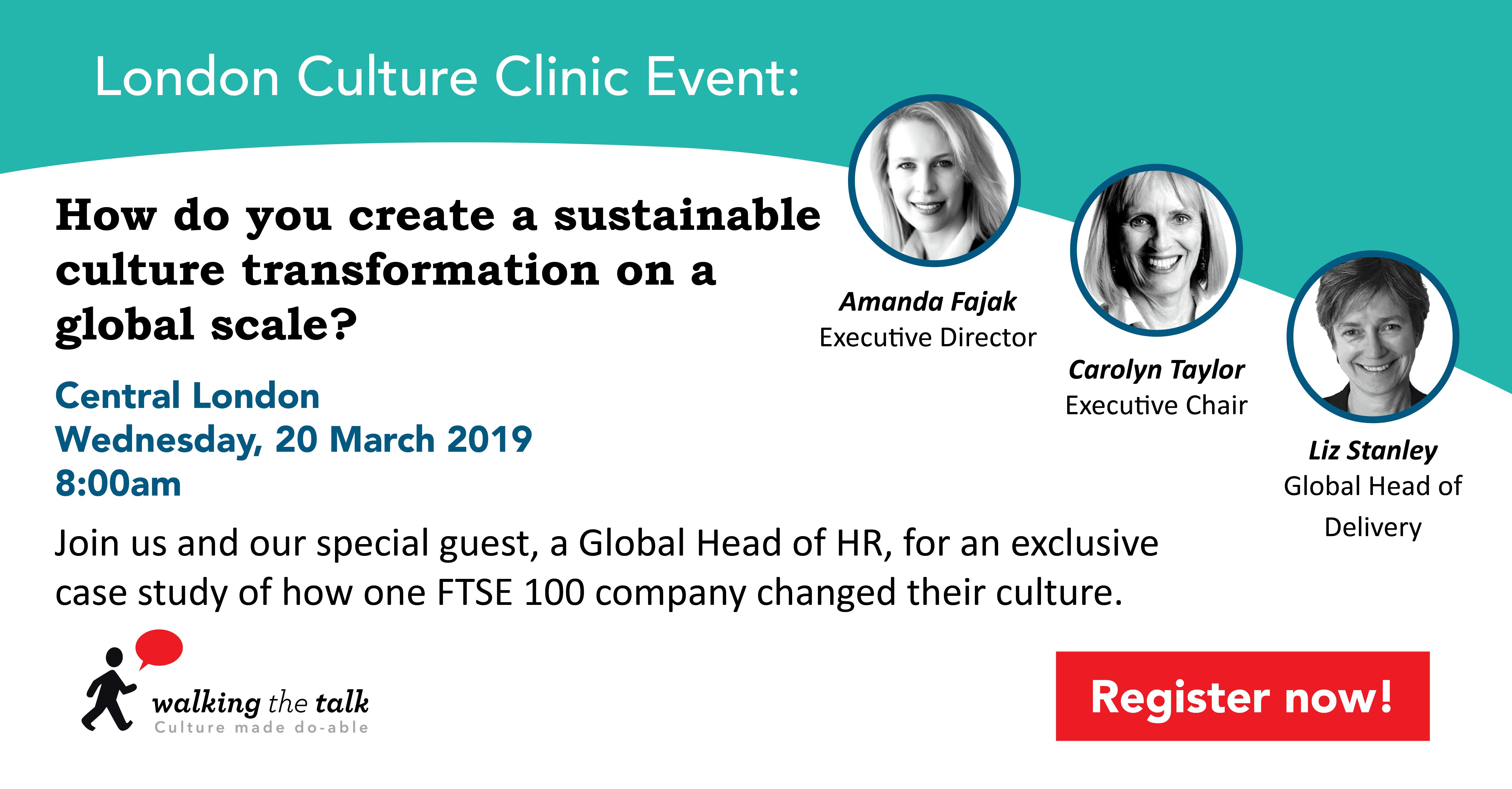 London Culture Clinic March 2019