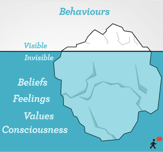At the core of culture are patterns of behaviour, which can be observed across the organisation.  Those patterns do not exist in a vacuum. They are underpinned by values and beliefs. Therefore, to shift the culture, not only do you need to identify the required behaviours for success, but also identify the beliefs that need to drive them.
